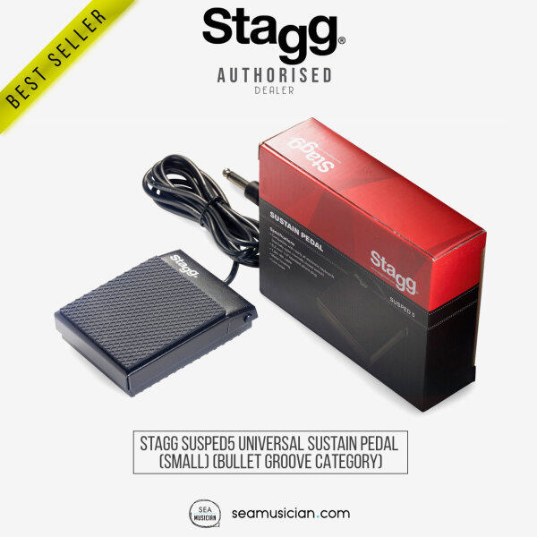 STAGG SUSPED5 UNIVERSAL SUSTAIN PEDAL FOR DIGITAL PIANO OR KEYBOARD (SUSPED 5/ PIANO KEYBOARD ACCESSORIES/ SEAMUSICIAN) Malaysia