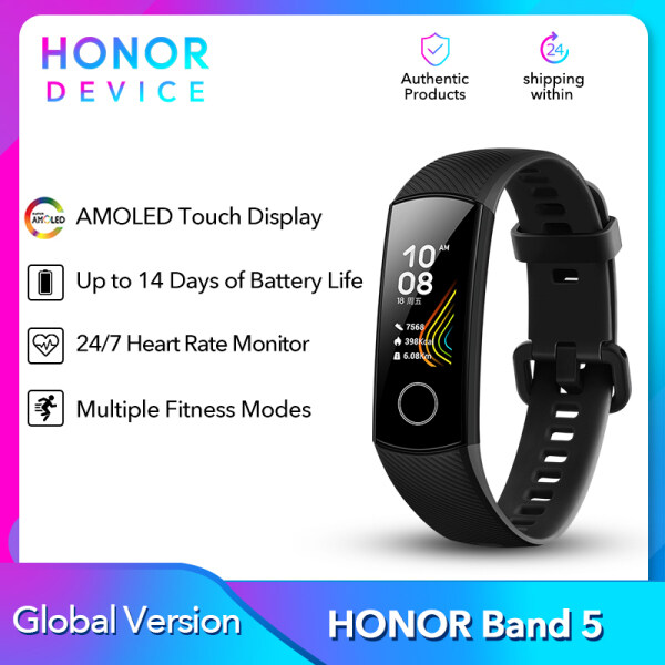 Honor Band 5 Bracelet Smart Band Global Version Heart Rate Monitor Blood Oxygen Touch Screen Amoled Waterproof