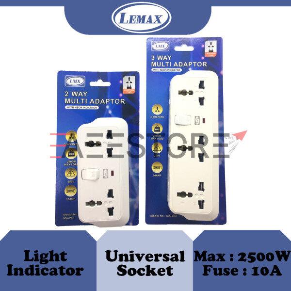LMX / LEMAX 2 Socket / 3 Socket Universal / Multi Wall T-Adaptor MA 263 / MA 363