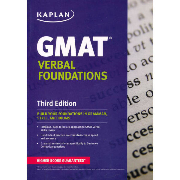 Ready stockGMAT VERBAL FOUNDATIONS