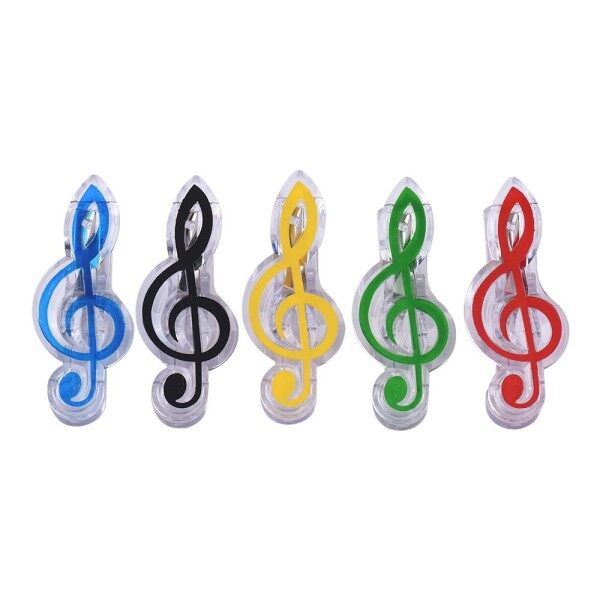 5Pcs Music Clip Piano Book Page Clip Eighth /Treble Clef Note Clips Bookmarks Accessories Ready Stock Malaysia