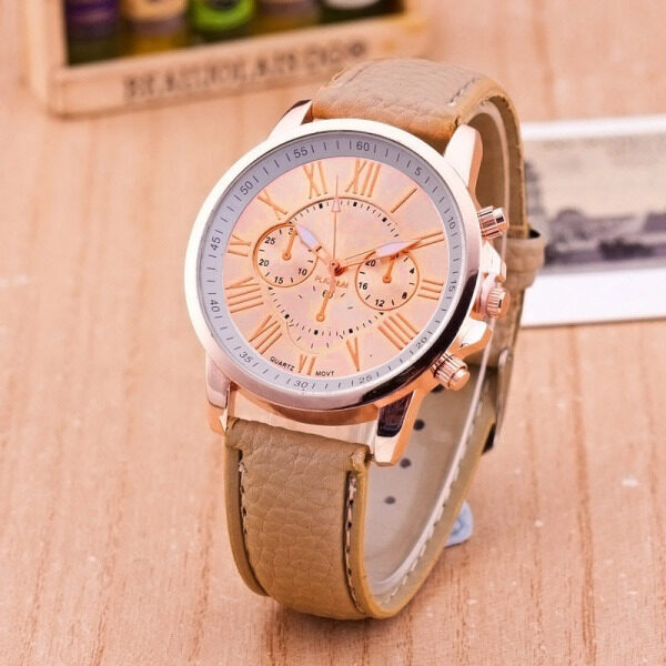Geneva Women PU Leather Wristwatch Casual Watch Reloj Ladies Gift Fashion Romantic High quality genuine Malaysia