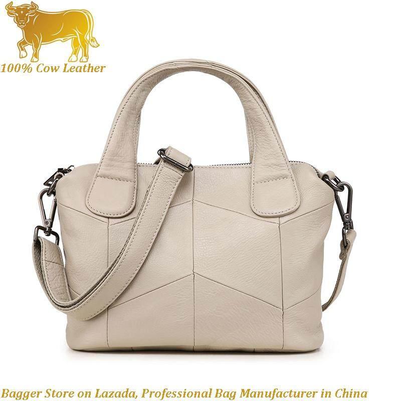 Handbag For Women Girls Genuine Cow Leather 2019 Pillow Shoulder Bag Top Handle Bags Ladies Elegant
