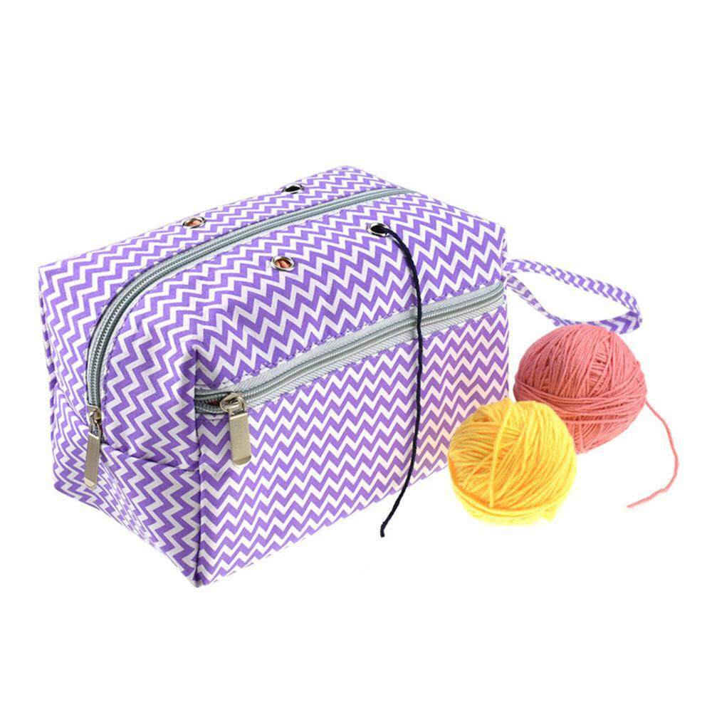 Outflety Small Yarn Storage Bag, Portable Knitting Bag For Yarn Skeins, Crochet Hooks, Knitting Needles (up To 8 Inches) And Other Small Accessories (small, Flowers) By Outflety.