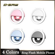 C-SAW Đèn LED Dạng Vòng Đèn Flash Tự Sướng Thông Dụng Điện Thoại Di Động Cầm Tay Đèn Selfie 36 Đèn LED Kẹp Vòng Phát Sáng Với Cáp Sạc USB Điện Thoại Di Động Samsung HUAWEI Dành Cho iPhone 11 Pro Max Oppo A5S/A3S OPPO Y12/Y17/15 2020 A5/A9