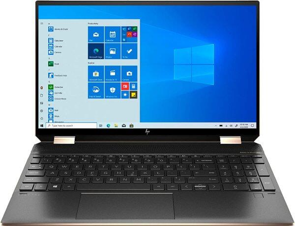 HP Spectre X360 15.6-inch 4K UHD Touchscreen 512GB SSD + 32GB Optane 11th Gen i7 (16GB RAM, Quad-Core i7-1165G7 up to 4.7GHz, Windows 10 Home, 3840 x 2160 Resolution) Nightfall Black Malaysia