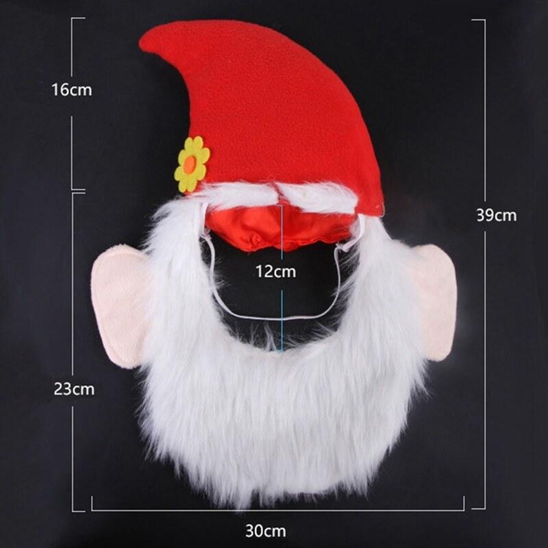 Mũ râu cho thú cưng giáng sinh caefeeje4