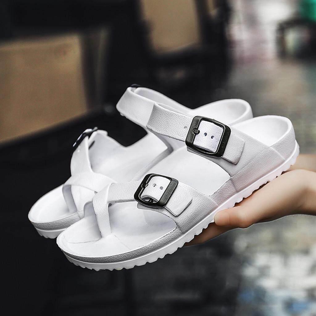 5f74b70a2d Sagestore Summer Casual Couple's Flats Sandals Flip-Flops Antiskid Slippers  Beach Shoes