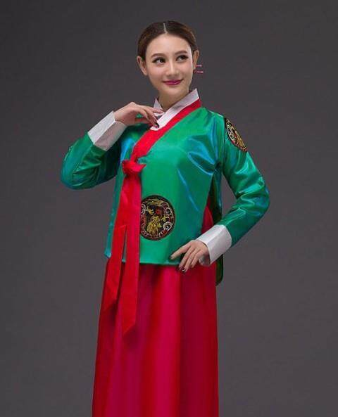 Children Girls Korea Traditional Hanbok Old Dress Uniform Costume