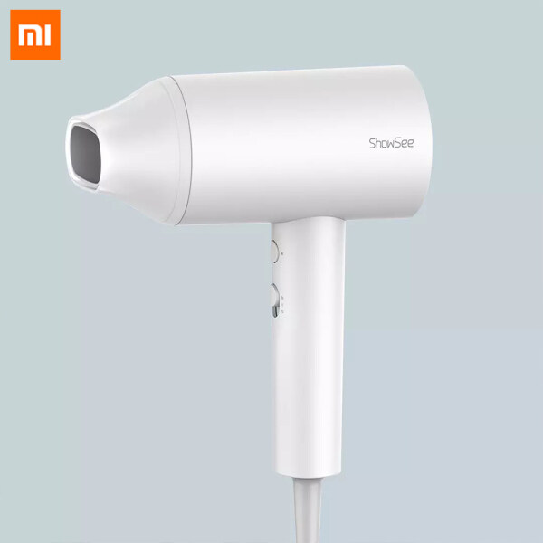 Xiaomi Mijia SHOWSEE A1-W Anion Hair Dryer Negative Ion Hair Care Professinal Quick Dry Portable Hairdryer Lightweight Design Easy Storage Compact And Portable Dust-proof Metal Protective Net To Prevent Foreign Matter From Entering For Girls Family