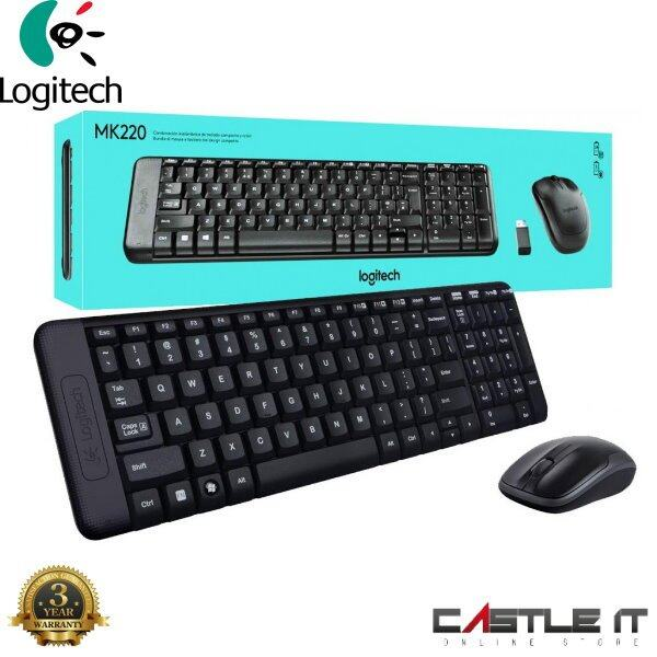 LOGITECH MK220 Combo Desktop Wireless Keyboard Mouse BLACK (920-003235) Malaysia