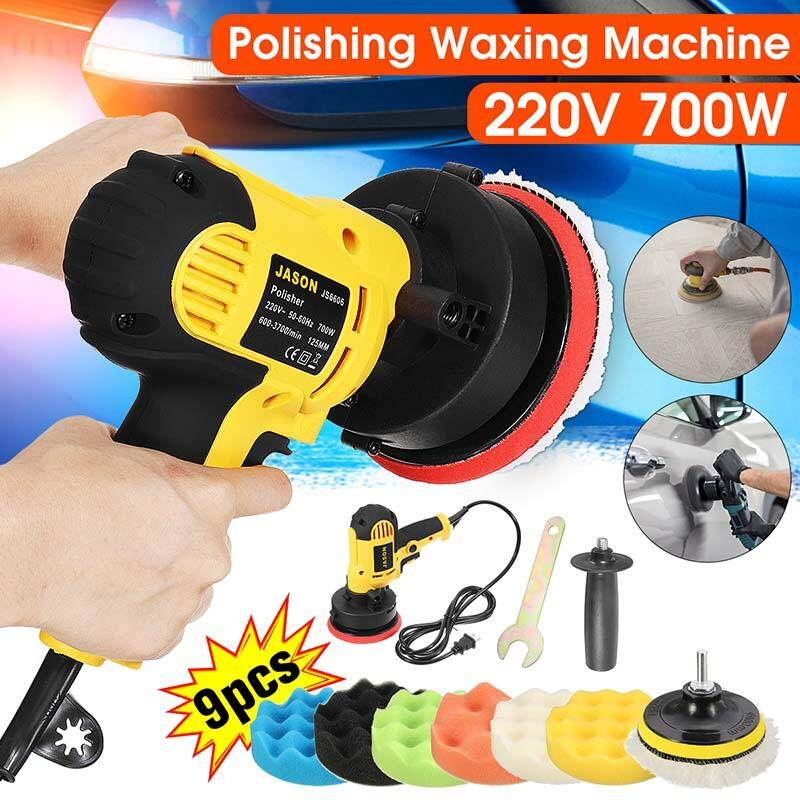 【Free Shipping + Flash Deal 】12V Multifunctional Shockproof Design Compact Polisher Machine + 9Pcs Sponge Pad