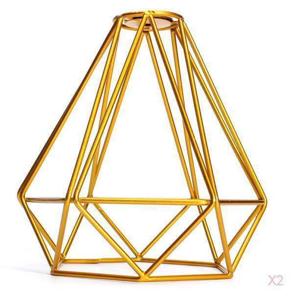 Perfk 2Pcs Antique Pendant Ceiling Light Lamp Shade Asile/Hallway/Dining Gold