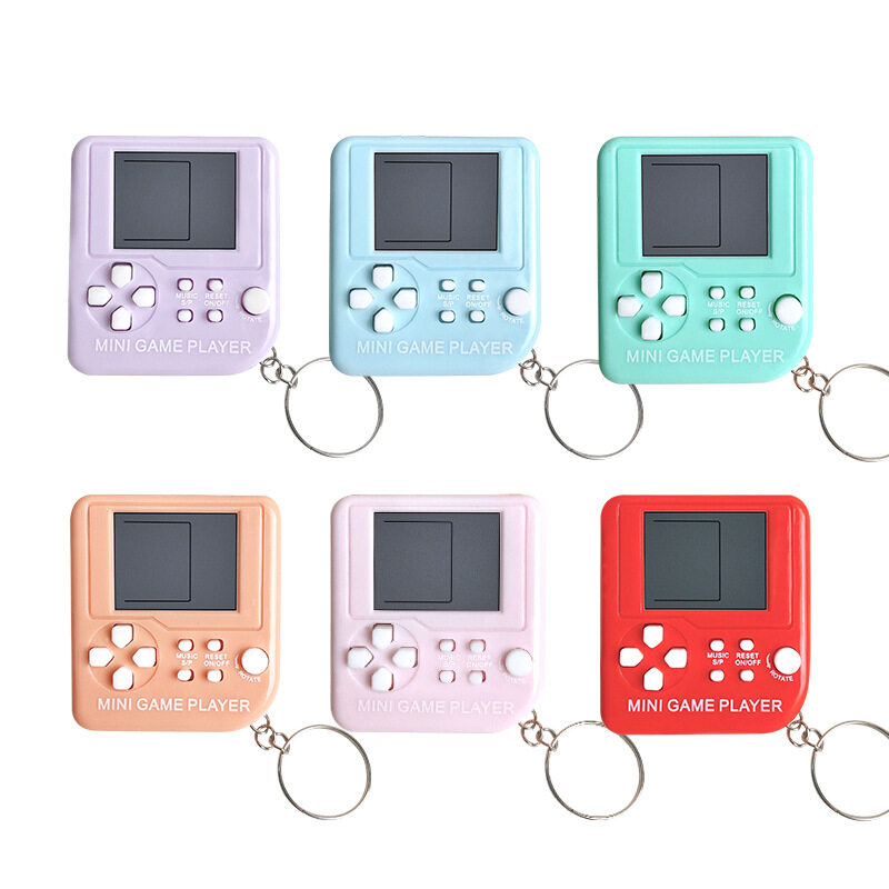 1 Cái Mini Cổ Điển Máy Chơi Trò Chơi Hoài Cổ Retro Bảng Điều Khiển Trò Chơi Với Keychain Tetris Trò Chơi Video Máy Chơi Game Cầm Tay Đồ Chơi Điện Tử