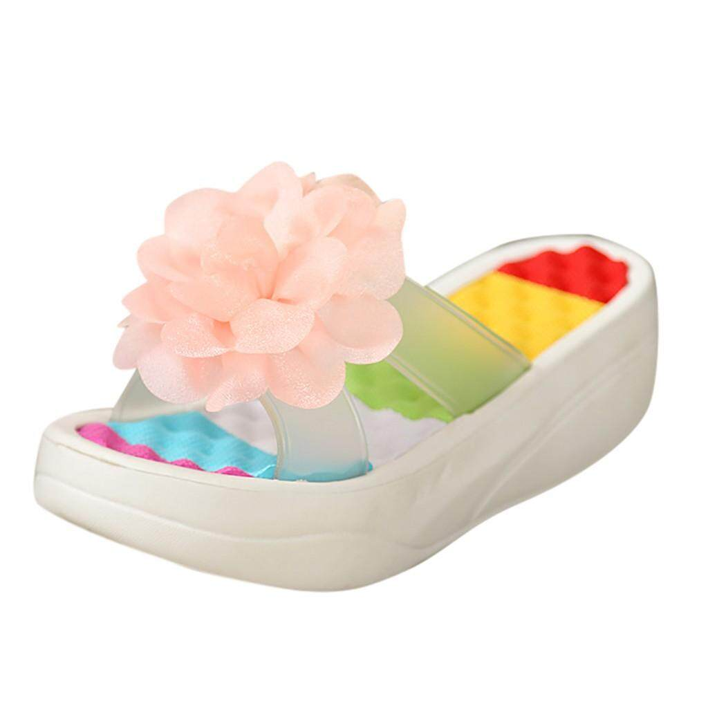 ed9d97b12e0d Summer Sandals Platform Flip Flops Slippers Sandals Swing Wedge Women Hole  Shoes