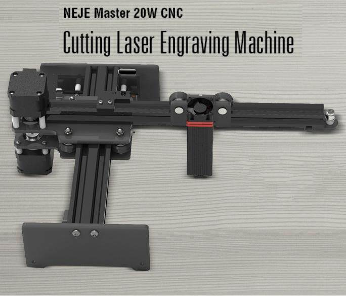 NEJE Master 20W CNC Cutting Laser Engraving Machine for Metal Wood Router Paper 2 Axis Engraver Desktop Cutter + Laser Goggles