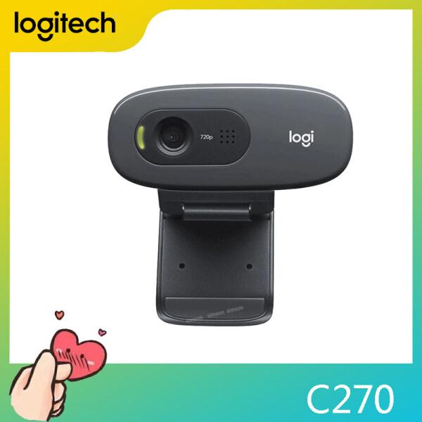 Auchors Logitech C270 HD Webcam Video 720P Live Streaming Webcam Built-in Microphone Network Video Camera for Windows