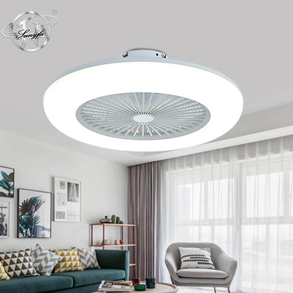 Sunyfa LED 2019NEW C006 Modern Ceiling Light Fan 80W AC220V Three Speed Fan Lamp Indoor Lighting Ceiling Fan With Remote Control Dimmable Day Light Neutral Light Warm Light for Bedroom Livingroom Kitchen