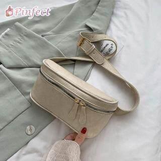 Túi Đeo Hông Pinfect bằng da Trơn có Khóa Kéo thiết kế theo phong cách thời Trang Cổ Điển - INTL thumbnail