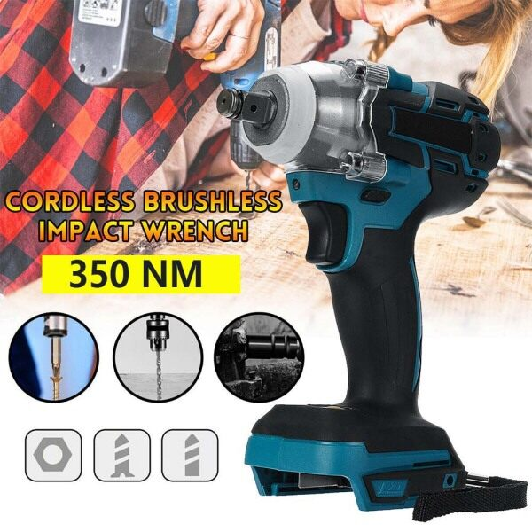 18V 520Nm Cordless Brushless Torque Impact Wrench 1/2 Body for Makita Battery(NOT INCLUDE BATTERY)