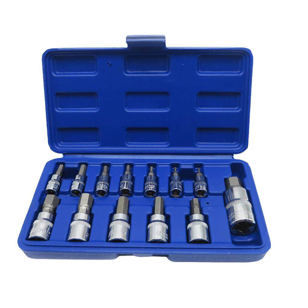 13 Piece SAE Hex Bit S2 Steel Socket Tool Kit Socket Set