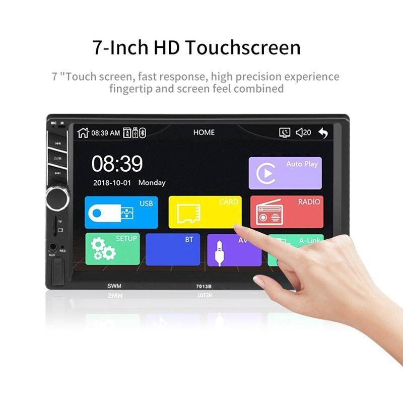 Car Stereo Receivers/Radio 2 Din,7 Inch Contact Screen Mp5 /Mp4/Mp3 Player,Bluetooth Audio,Fm Radio,Usb/Sd/Aux Input,Mirror Link,Rear View Camera