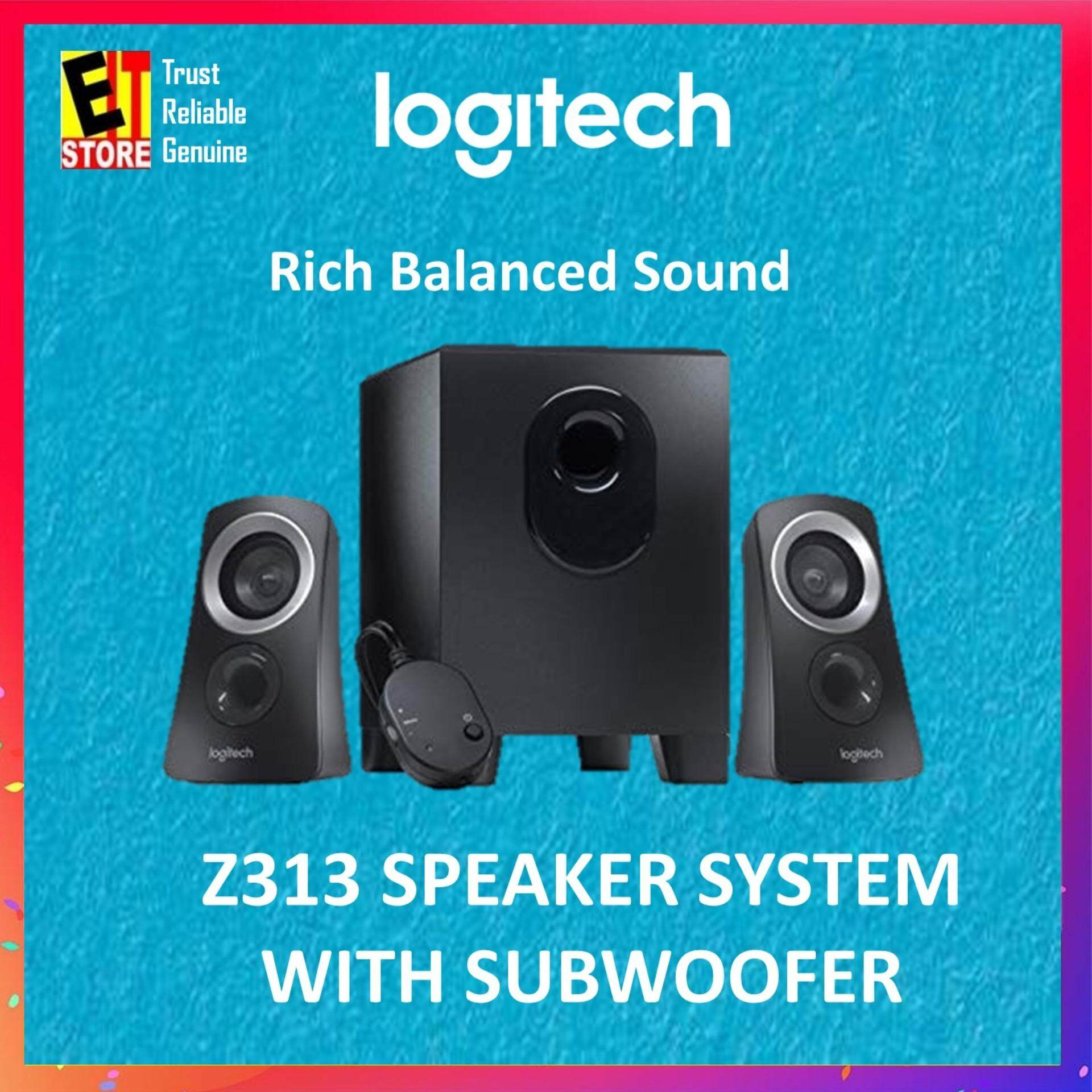 LOGITECH Z313 SUBWOOFER 2.1 SURROUND SOUND SPEAKER Malaysia