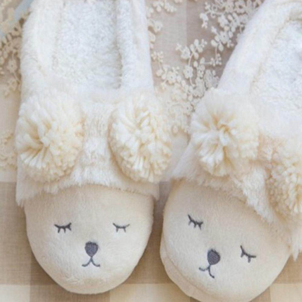 1a38f9910 Cute Sheep Animal Cartoon Slipper For Indoor Bedroom House Warm Cotton  Shoes Adult Plush Flats Winter Women Home Slippers