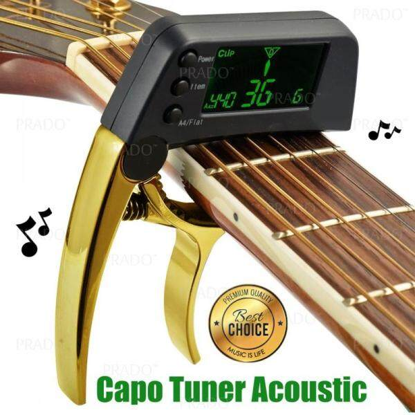 PRADO Malaysia TCapo 20 Quick Change Alloy Material Key Capo Tuner for Acoustic Electric Guitar Bass Chromatic Malaysia