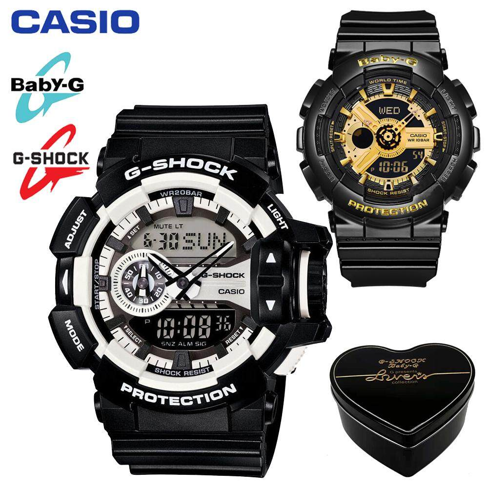 (Ready stock)Original Casio_ G_Shock_Baby_G_GA400 BA110 Men Women Couple Set Sport Watch Dual Time Display Water Resistant Shockproof and Waterproof World Time LED Light Lover Sports Wrist Watches with 2 Year Warranty BA1101A/GA4001A Malaysia