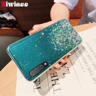 NIWINEE Dành Cho Samsung Galaxy A01 A50 A70 A50S A30S A10S J4 Plus J6 Plus Ốp Lưng Kim Sa Ngôi Sao Lấp Lánh Sang Trọng Ốp Lưng Silicon Trong Suốt thumbnail