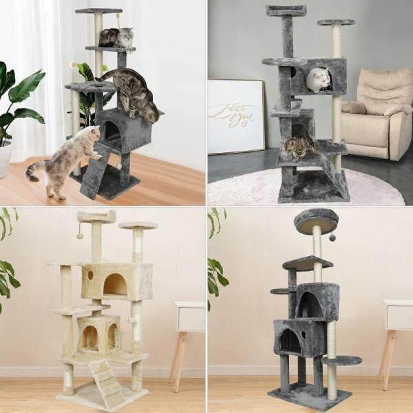 Hàng Ở Nước Ngoài!!! Nhà Cây Mèo Thú Cưng Đồ Chơi Cho Mèo Đa Cấp Chung Cư Trụ Cào Cho Mèo, Cây Leo Gỗ Cây Mèo Tháp HWC RMYYX