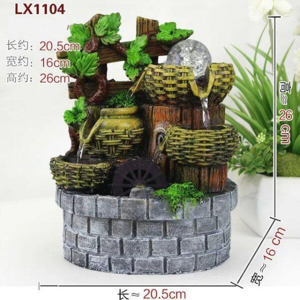 FENG SHUI WATER FOUNTAIN 1104 TABLE TOP FEATURES DECORATION