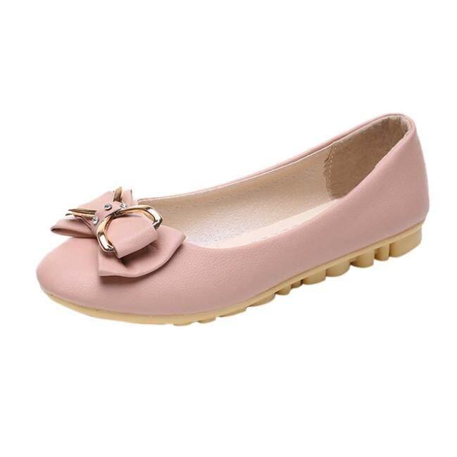 Giày Lười Đế Bằng AYYUU MALL Cho Nữ, Giày Đế Xuồng Giày Lười Mũi Tròn Bệt Thắt Nơ Bướm Nông Thời Trang Giày Làm Việc Thường Ngày giá rẻ
