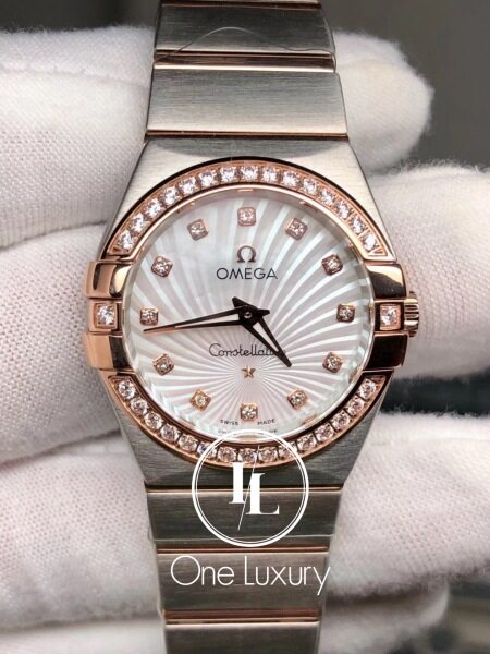 [ONE LUXURY] CONSTELLATION LADIES 27MM SILVER DIAL 18K ROSE GOLD Malaysia