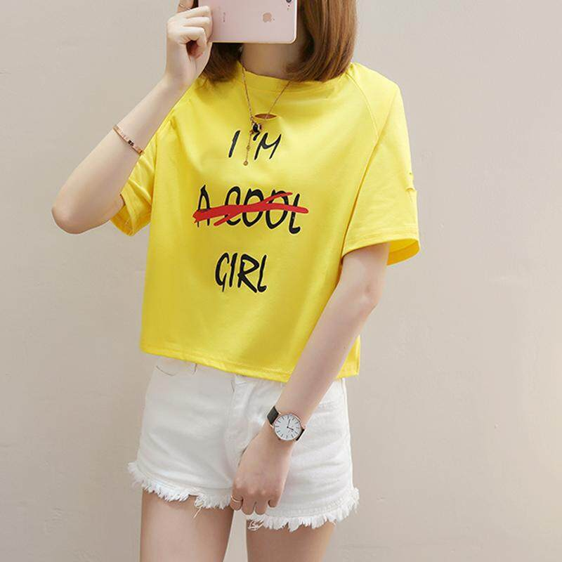 466f17ac67d73 Woman Summer New Students Loose Korean Short-sleeved T-shirt Fashion  Harajuku Letter Print