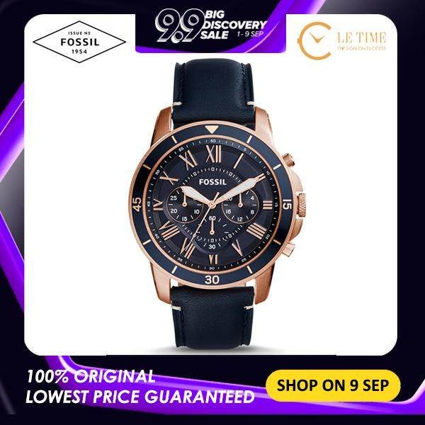 [Authentic] Fossil Grant Sport Chronograph Blue Leather Men Watch Jam Tangan Lelaki FS5237 Malaysia