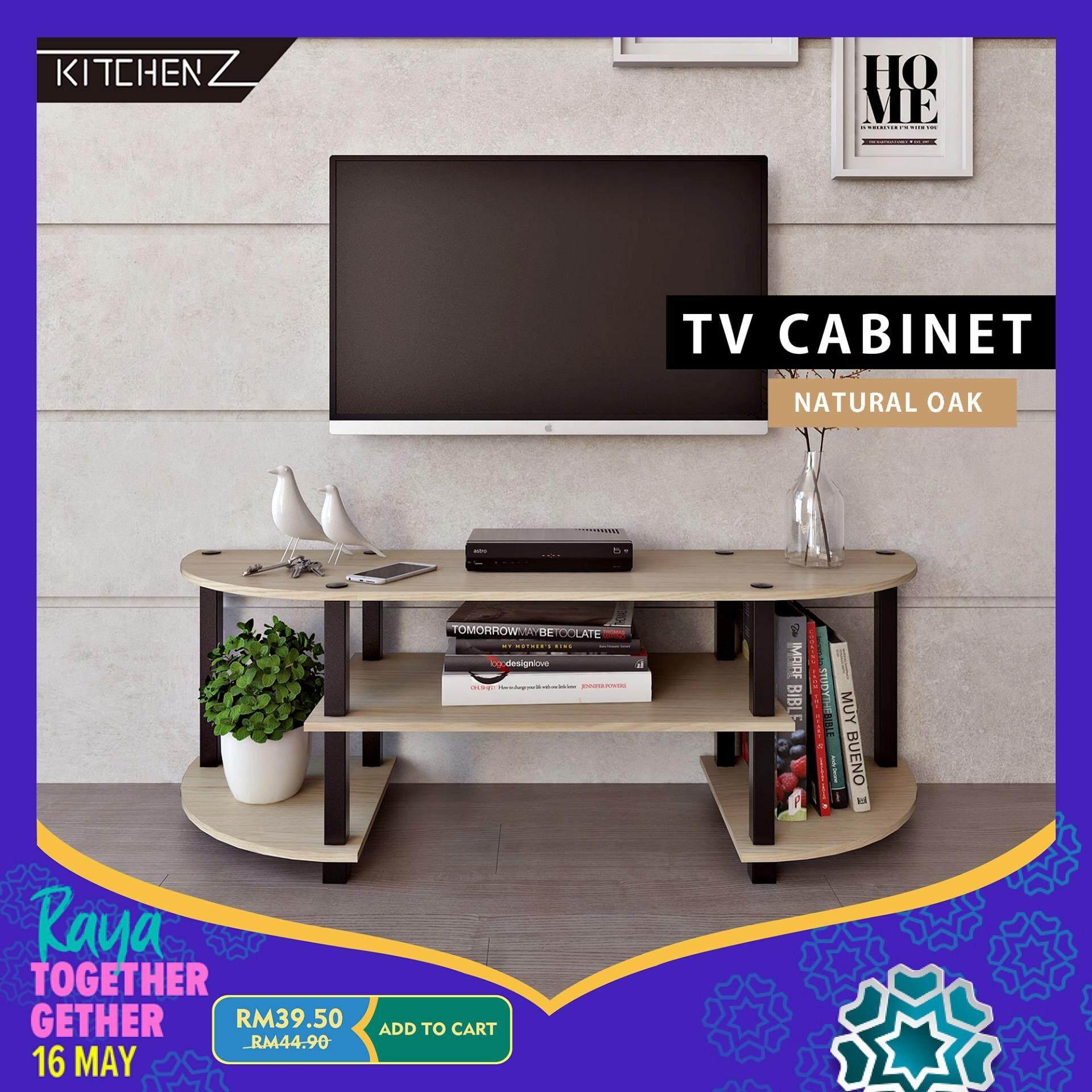 Homez Tv Cabinet Hmz-Tv-Dt-5000 Modernist Design Solid Board Tv Rack / Console / Rak - 4 Ft By Kitchen Z.