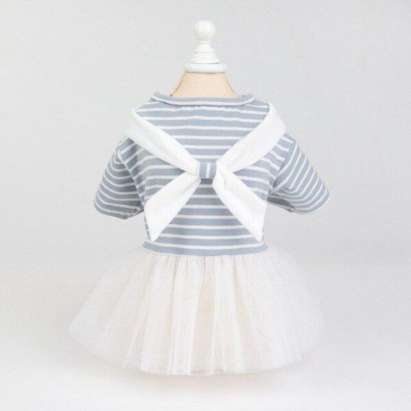 Mùa Hè Mới 2020 Váy Sọc Cho Chó Cưng Quần Áo Đám Cưới Công Chúa Váy Váy Chó Con Mèo Con Quần Áo Mùa Xuân Pet Cat Dress