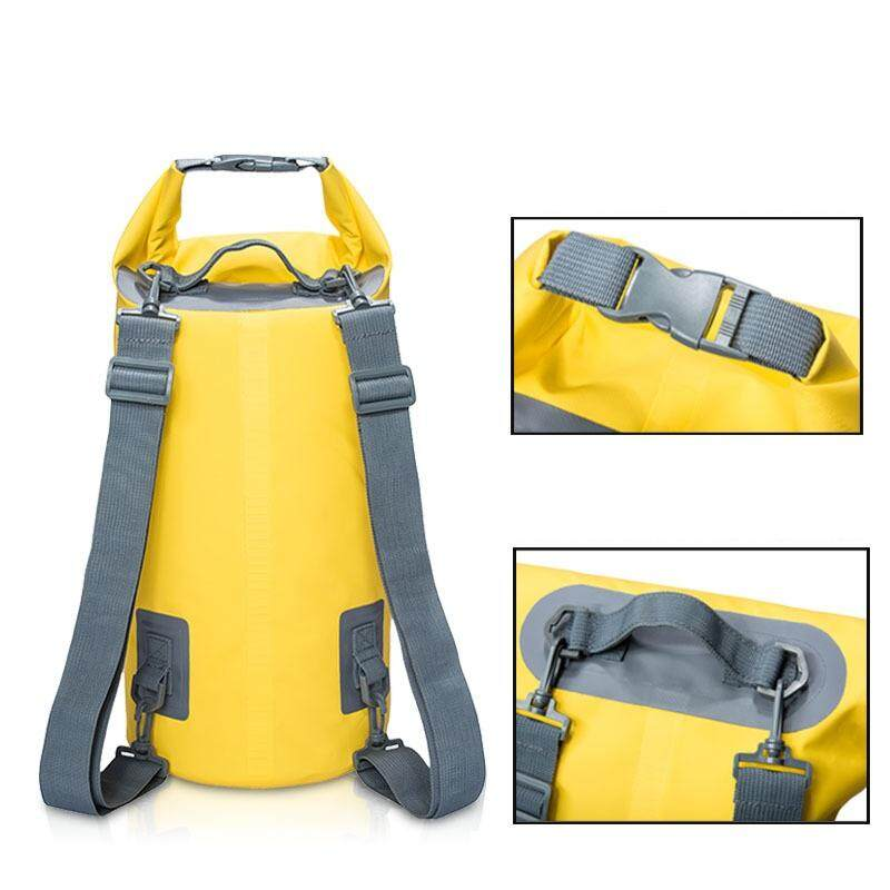 afc95dcdbb1e  10L Double Strap Thicker  Outdoor Dry Bag Waterproof Storage Mobile  Backpack 10L for Swimming