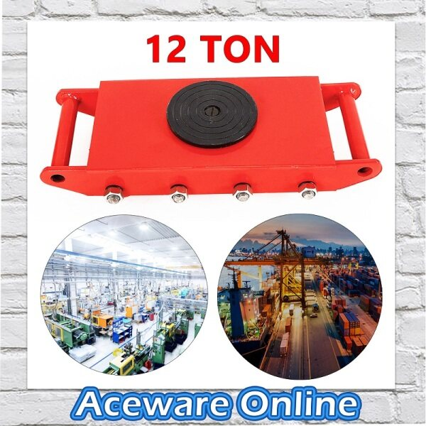 12 Ton 360° Degree Rotation Heavy Duty Industrial Machinery Mover Lifter Cargo Trolley Wheels Dolly Skate Roller