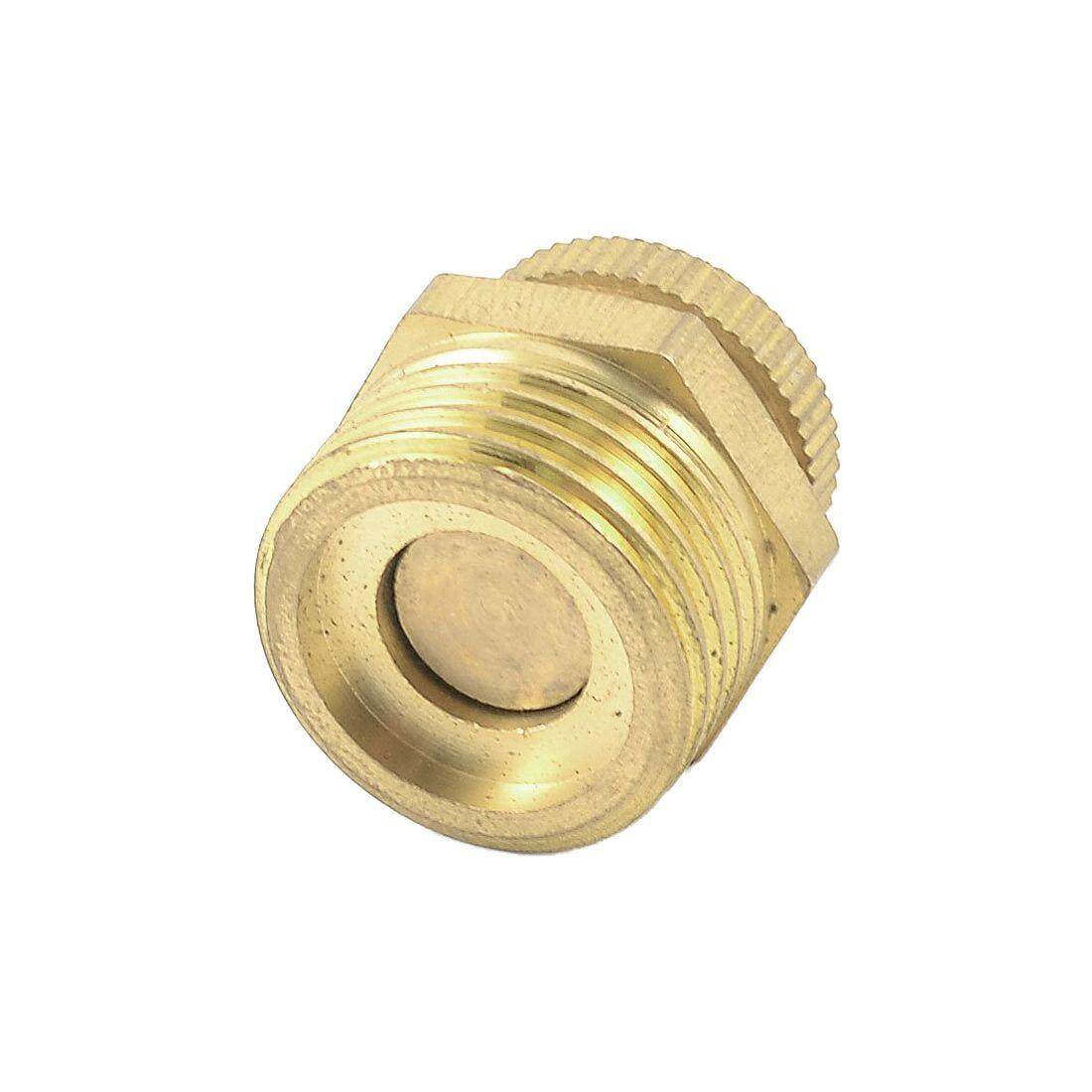 Gold Tone Air Compressor Piece Metal Water Drain Valve 20mm
