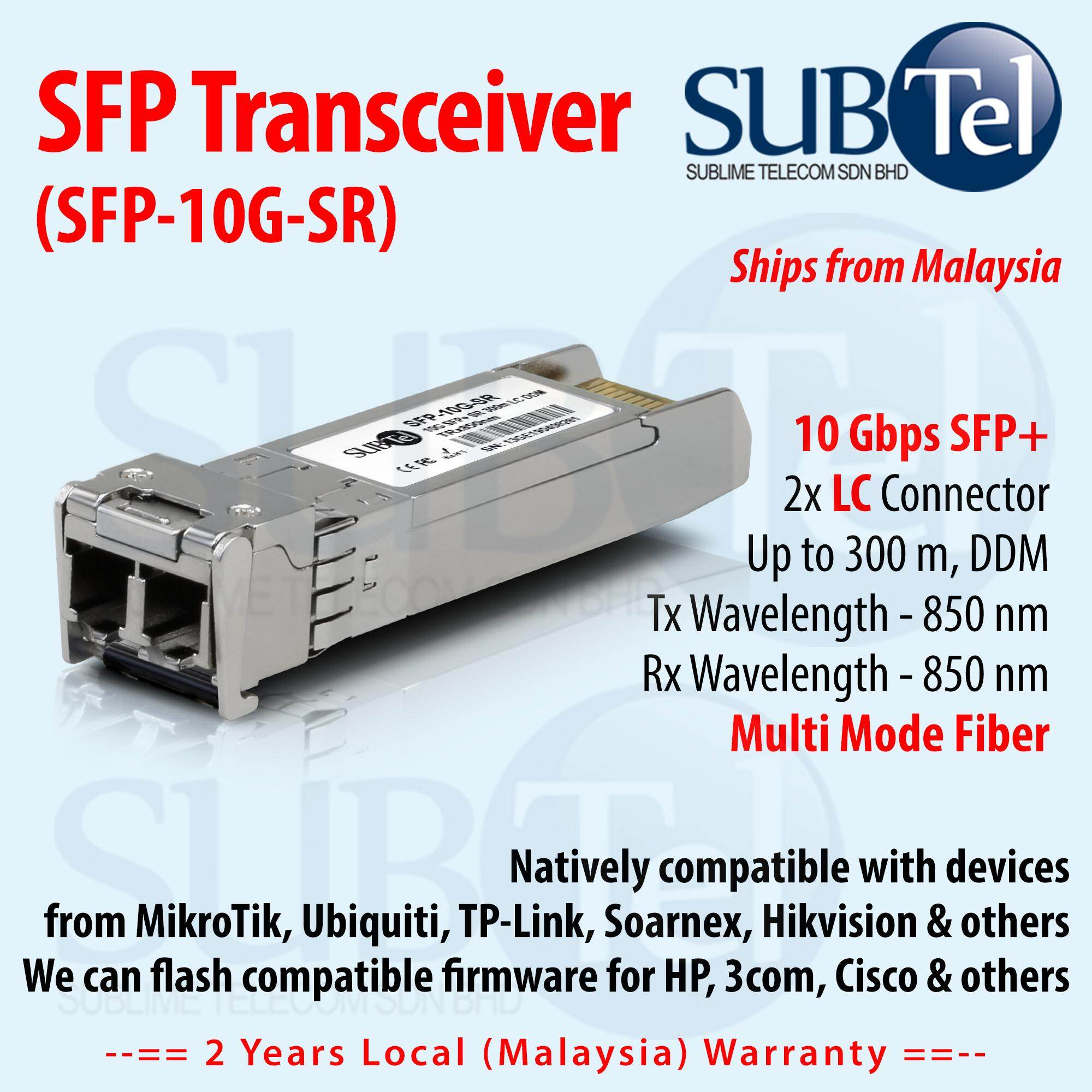 For MikroTik S+85DLC03D 10G SFP transceiver with LC connector 850nm MMF 300M