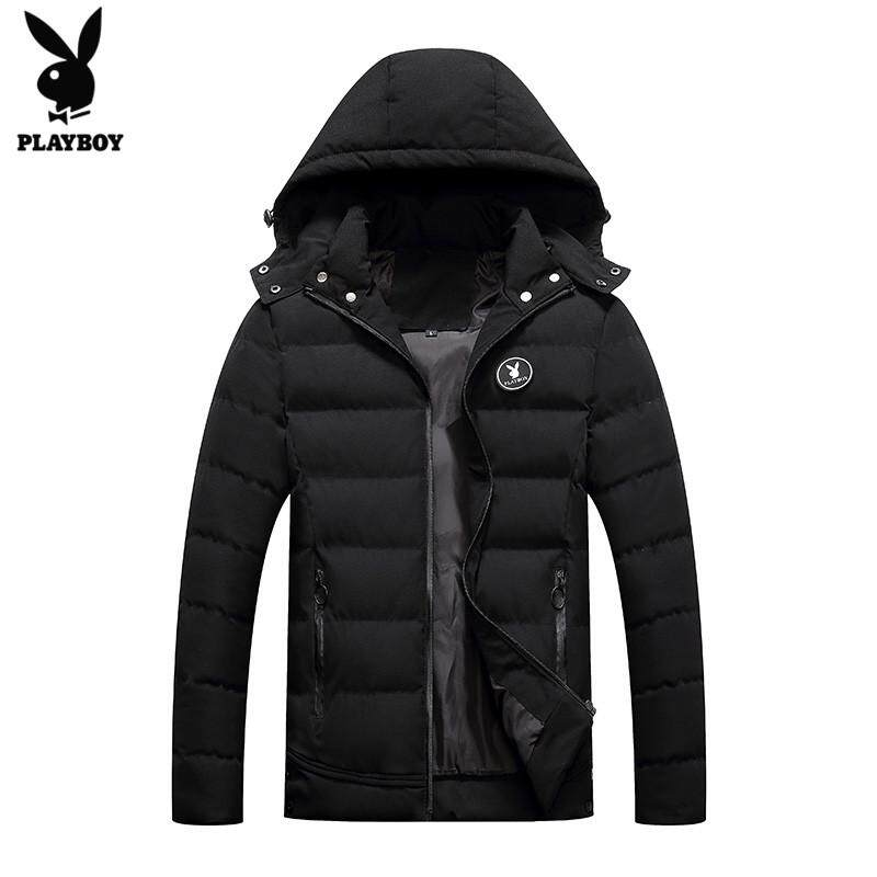 Play Boy Coat Men Winter Thick Winter New Style Mens Wear Korean Style Trend Handsome Cotton-Padded Clothes Leisure Down Jacket Cotton-Padded Clothes Cotton-Padded Jacket(m-4xl).