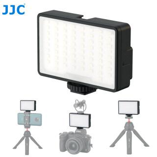 Đèn video JJC LED để phát trực tiếp và quay vlog Đèn chụp ảnh mini cầm tay Đèn chiếu sáng trên máy ảnh hoặc điện thoại thông minh 66 đèn LED sáng có thể làm mờ nhiệt độ màu 5600K thumbnail