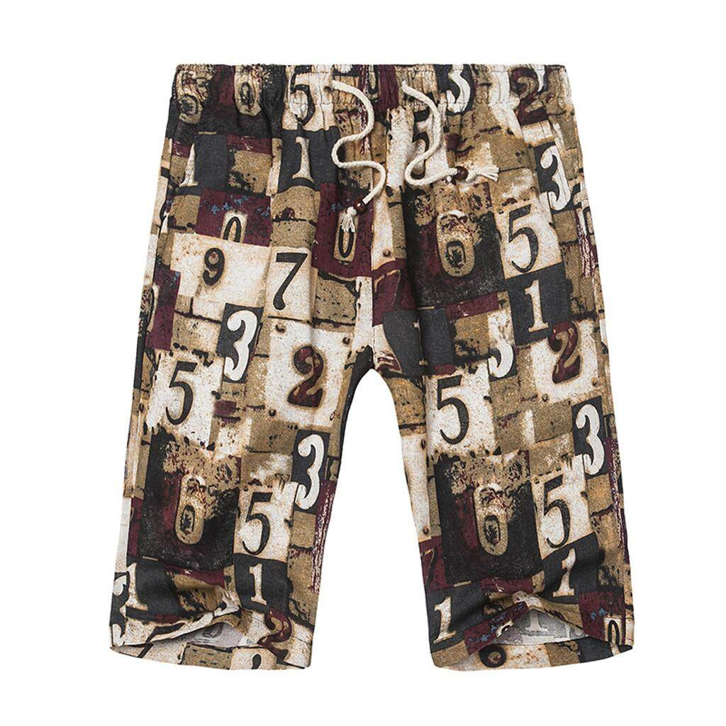 Mobilone Fashion Men Casual Star Printed Beach Casual Men Short Trouser Shorts Pants By Mobilone.