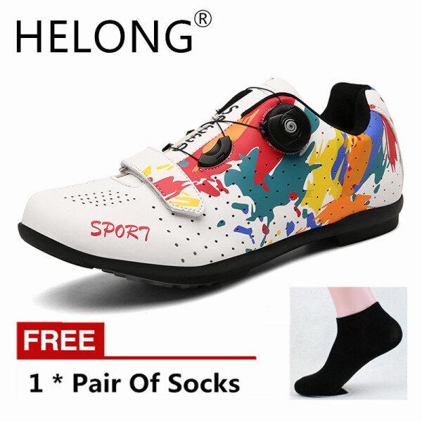 Helong New upline Road giày đi xe đạp nam MTB Giày Mountain Bike giày siêu nhẹ xe đạp Sneakers tự khóa chuyên nghiệp thoáng khí