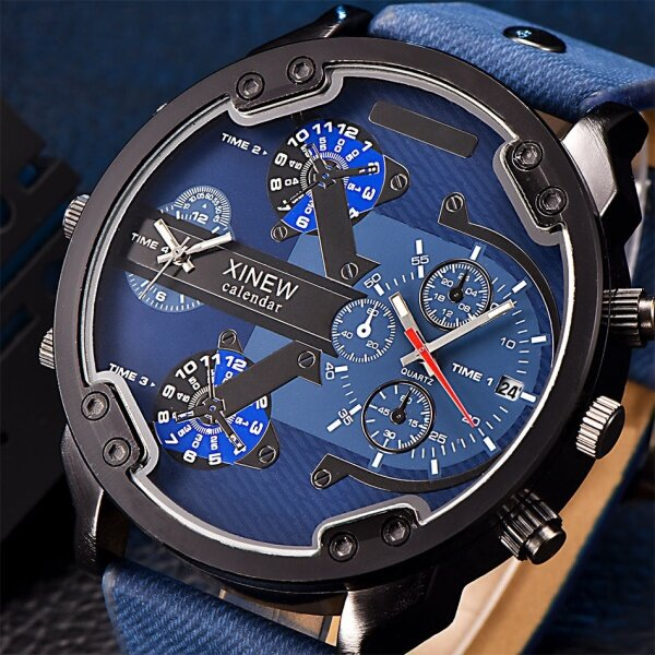 You raise me up Mens Fashion Luxury Watch Leather Date Analog Quartz Sport Mens Wristwatches Malaysia