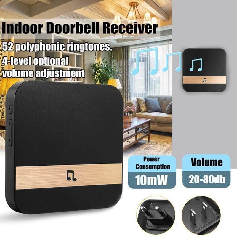 Bel Pintu Visual Lonceng Plug-In Chime Wifi Lonceng Bel Pintu Universal 433 MHZ Hitam Pengunjung Pasar