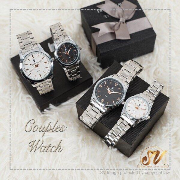 [Master Polo Watch] Watch Couple set Men   Women Stainless Steel Watch Jam Tangan Pasangan High Quality Watches Malaysia